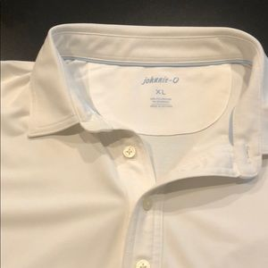 Johnnie-o white polo perfect condition